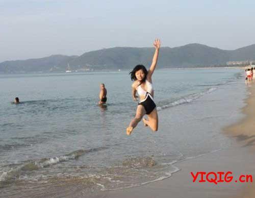 第一次见到大海就兴奋了