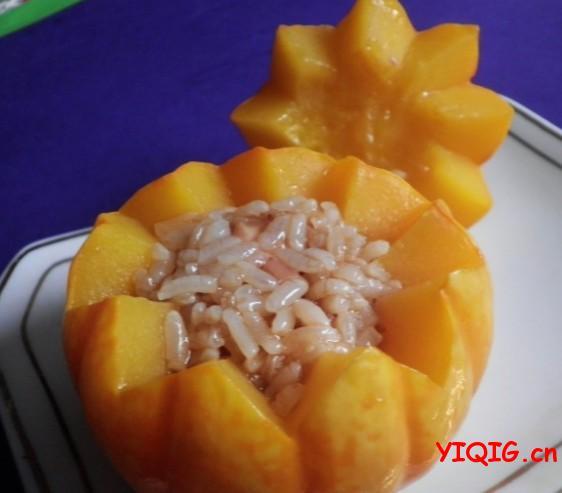 南瓜糯米鸡的做法