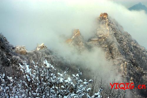 震撼心灵的冬雪长城