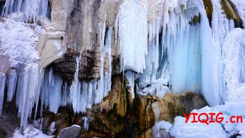 你看过冰的瀑布吗?
