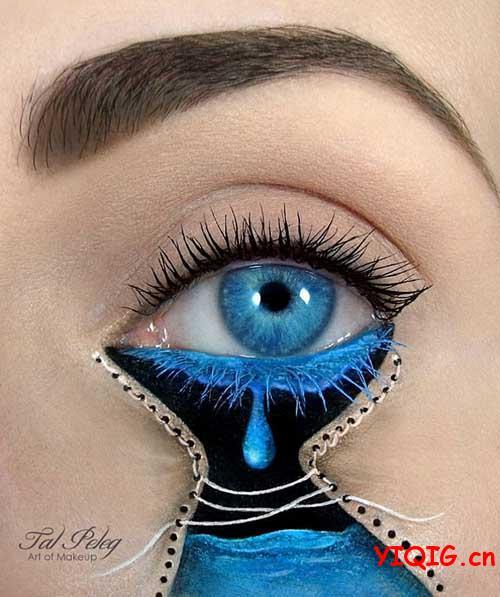 画在美女眼皮上的图画