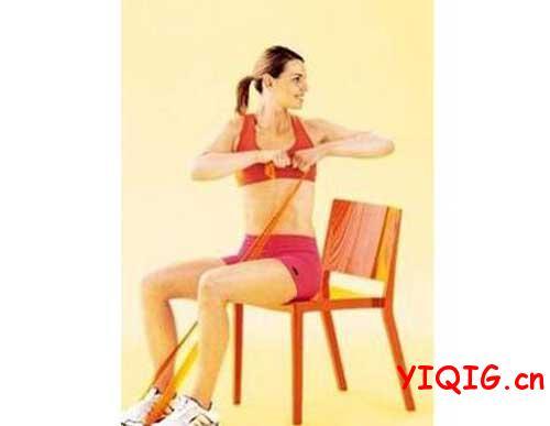女白领的专属丝袜瘦身美体操
