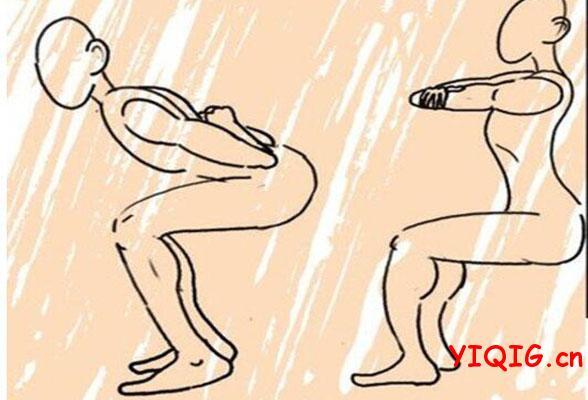 靠墙深蹲瘦身原理及锻炼动作要点