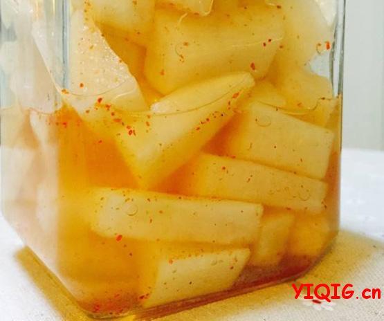 小米椒腌萝卜、脆腌萝卜扇,自家腌萝卜好吃秘诀